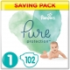 Pampers Pure Protection 1 (2-5kg) 102vnt.