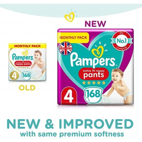 Pampers Pants 4 Active Fit (9-15kg) 168vnt.