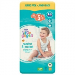 Little Angel Comfort & Protect 5+ (13-27Kg) 64vnt.