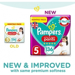 Pampers Pants 5 Active Fit (12-17kg) 136vnt.