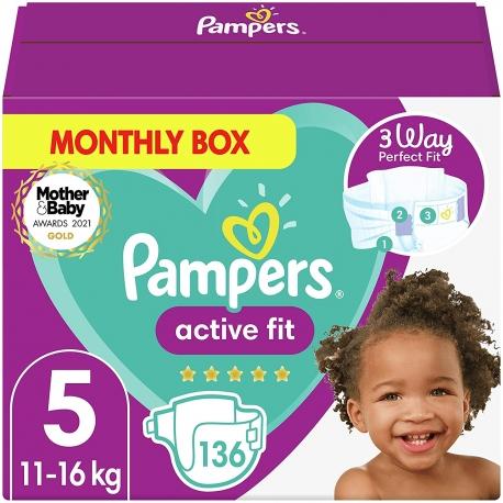 Pampers Active Fit 5 (11-16kg) 136vnt.